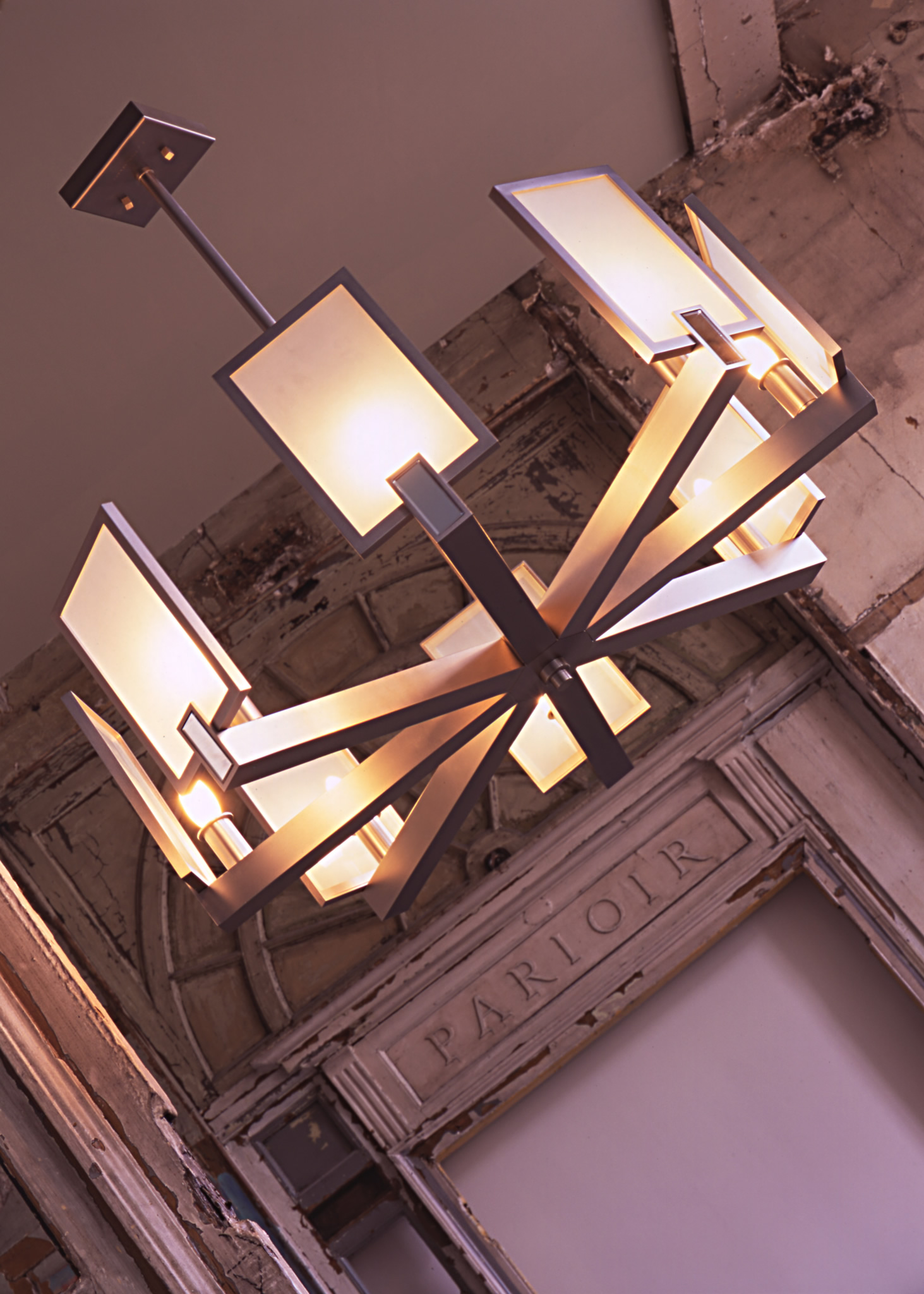 Cl sterling son square chandelier square chandelier arubaitofo Choice Image