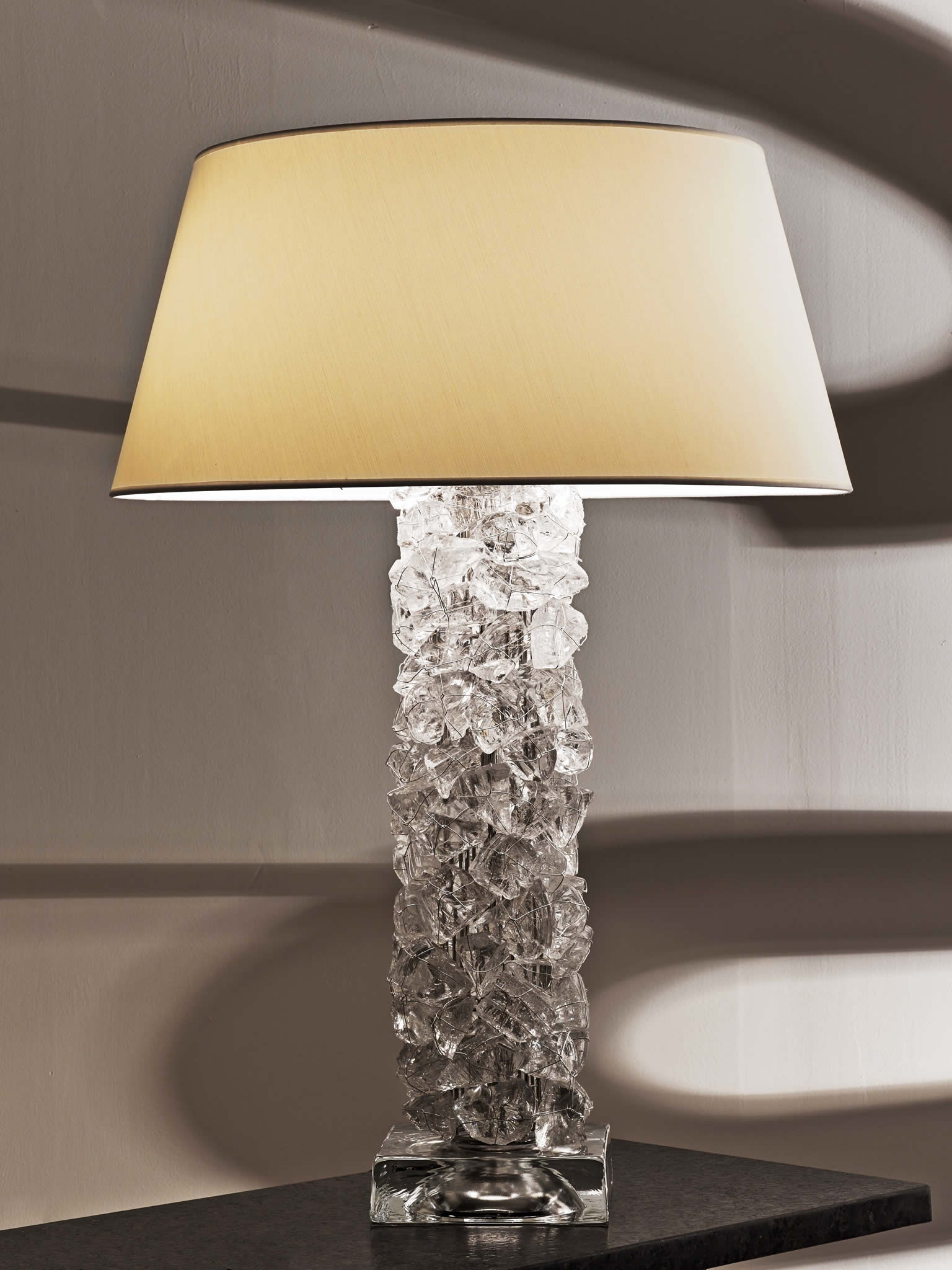 Cl sterling son rock pillar table lamp for Rock lamp