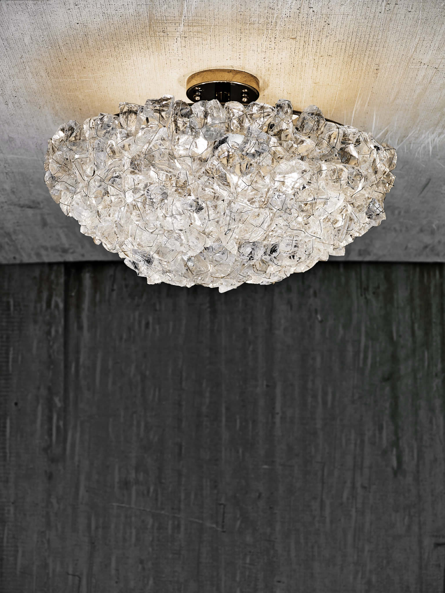 Cl sterling son rock crystal ceiling fixture for The sterling